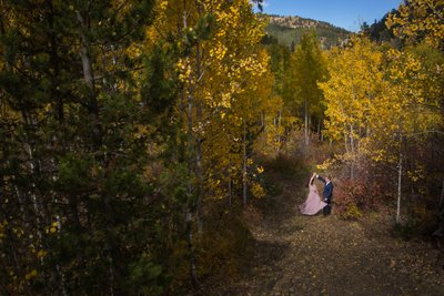 Nederland Colorado Aspen Engagement Shoot