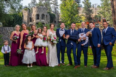Dunafon Castle Bridal Party Photo