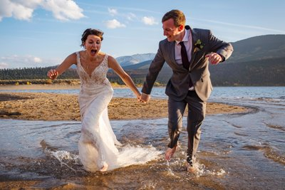 Twin Lakes Buena Vista Elopement Romantic Candid