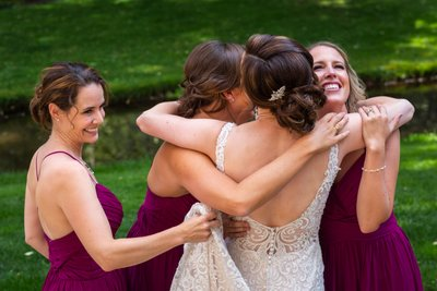 Dunafon Castle Bridesmaid Hug