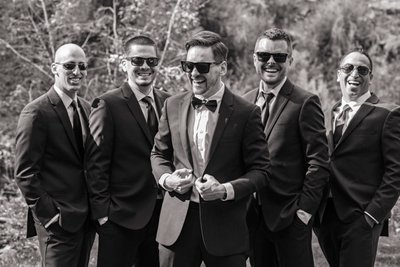 Groomsmen Dunafon Castle Covid Wedding 2020