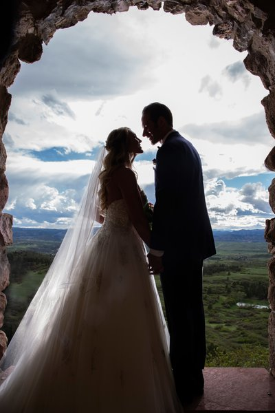 Cherokee Ranch Castle Bride and Groom Portrait