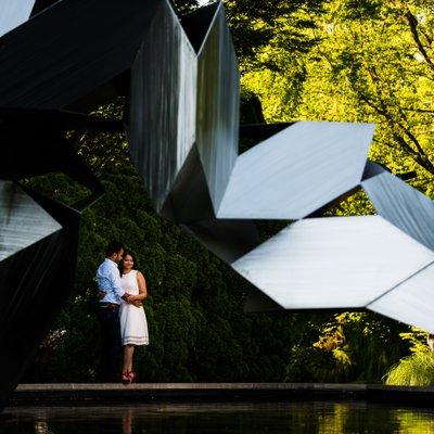 Grounds For Sculpture Engagement Photos