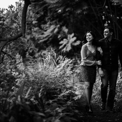 New Jersey Botanical Gardens Engagement Photos