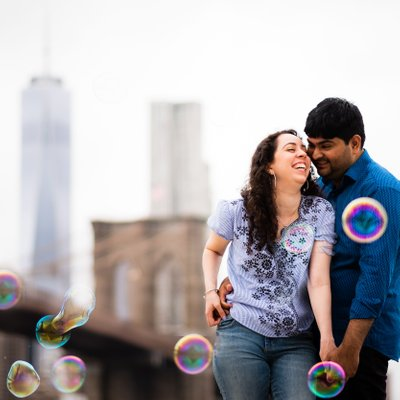 Brooklyn Bridge Park Engagement Shoot