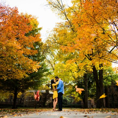 Fall Engagement PhotographyP