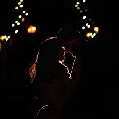 Night Engagement Photos