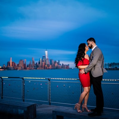 Pier C Park Hoboken Engagement Photos