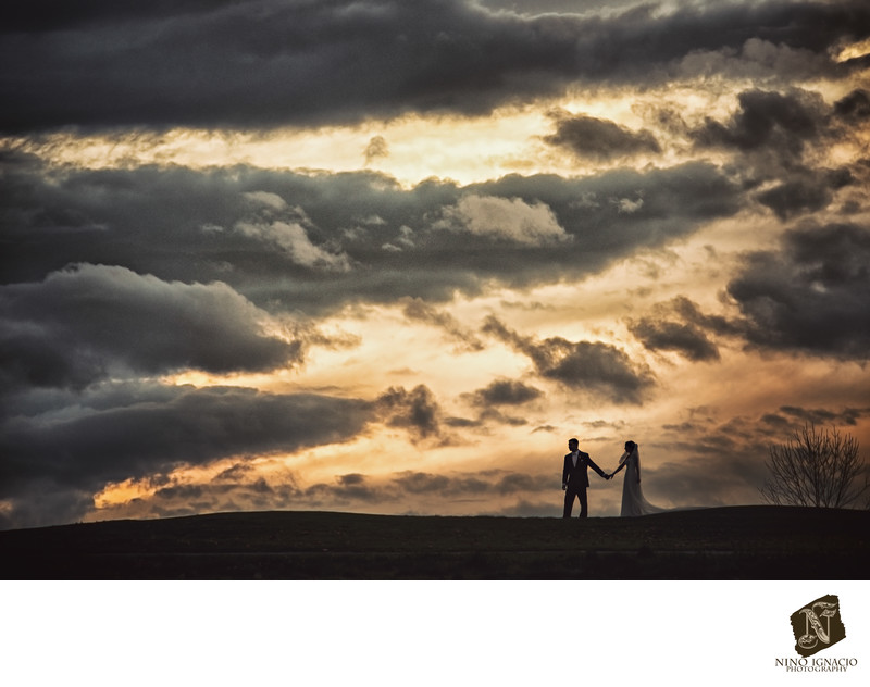 Bride and Groom- Romantic Sunset- Easton, PA