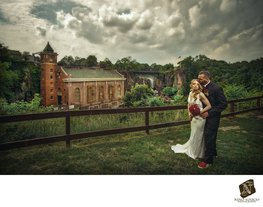 Great Falls of Paterson Wedding Photograph