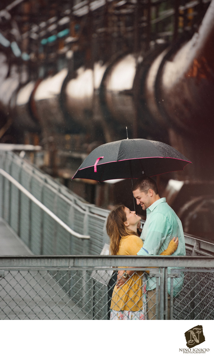 In Love-Engagement-Steel Stacks