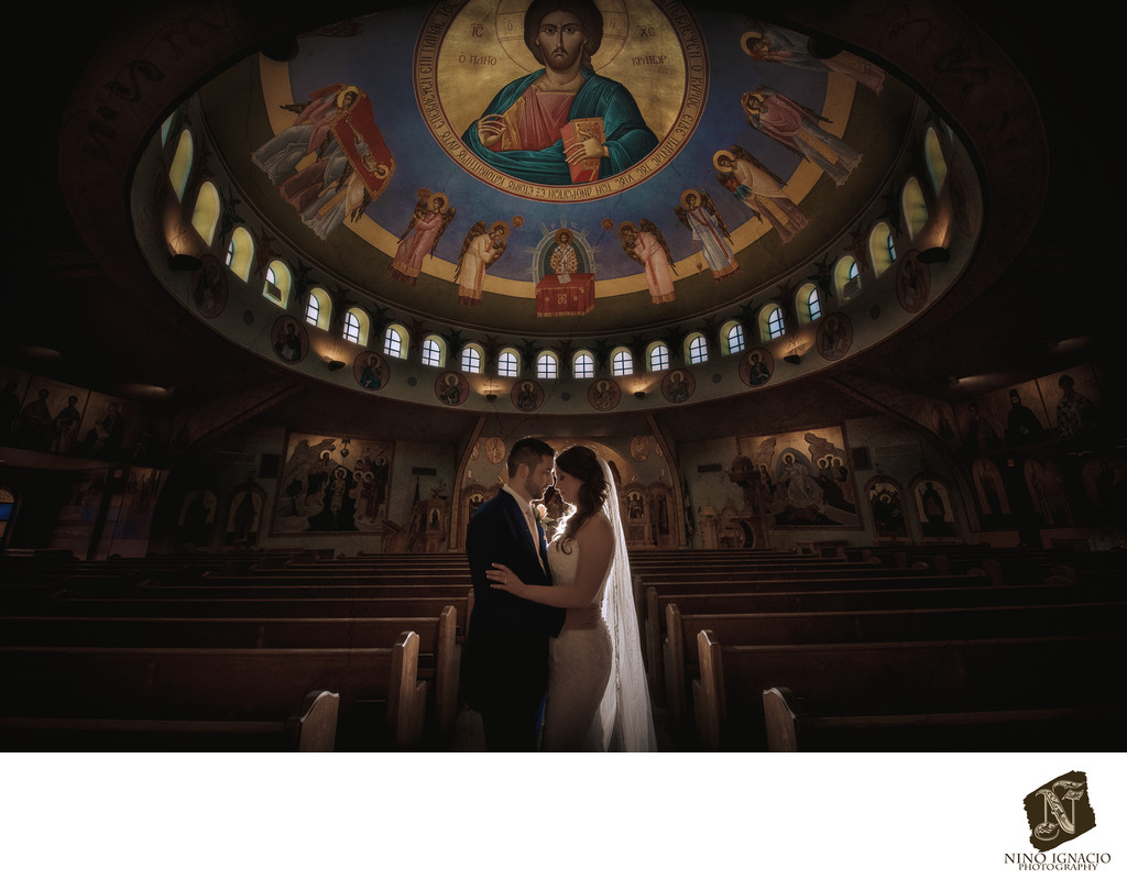 Bride and Groom-Holy Trinity Greek Orthodox Church Wedding