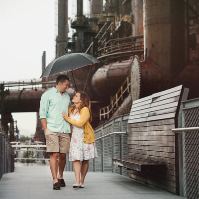 Rainy Days-Steel Stacks-Engagement