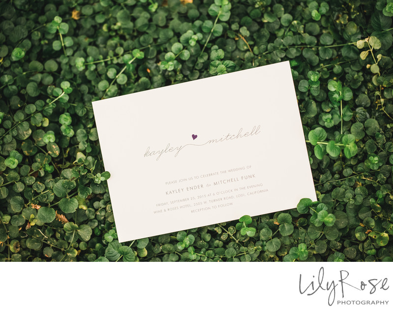 Wedding Invitation Wine and Rose Lodi