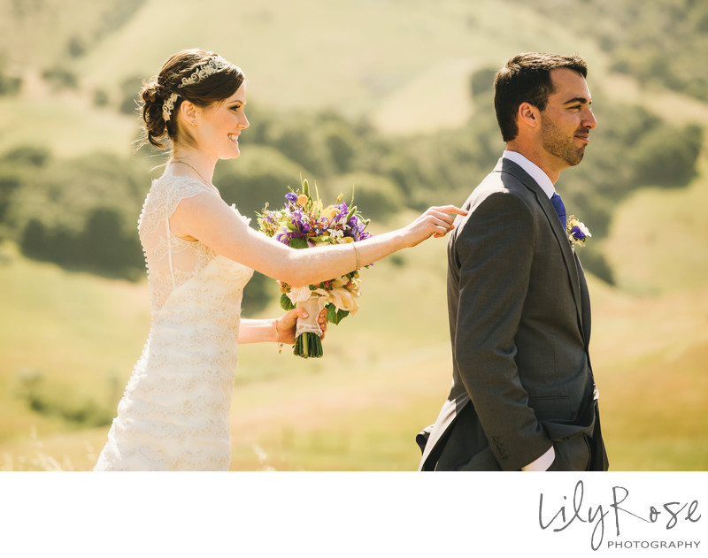 First Look Best Wedding Photographer in Sonoma