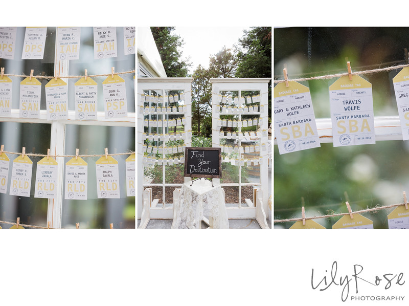 Escort Cards Napa Wedding Details Wedgewood Napa