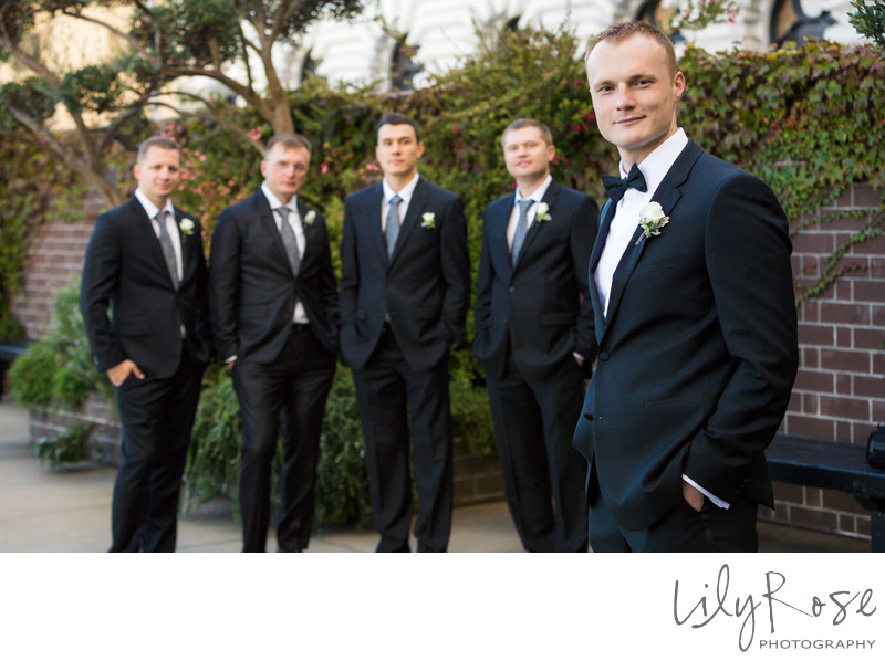 Groomsmen Portraits Fairmont San Francisco
