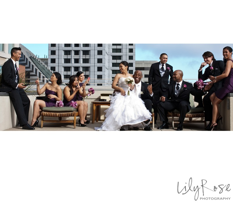 Wedding Party Photographs San Francisco St. Regis Hotel