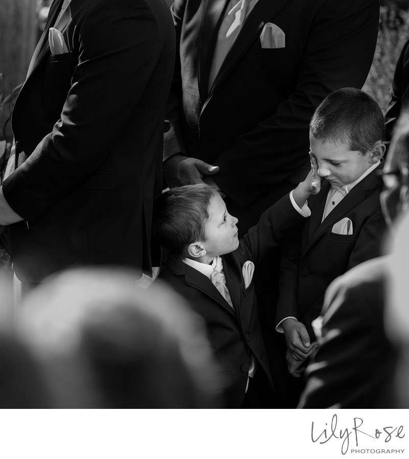 Ring Bearers not paying attention Napa photographer