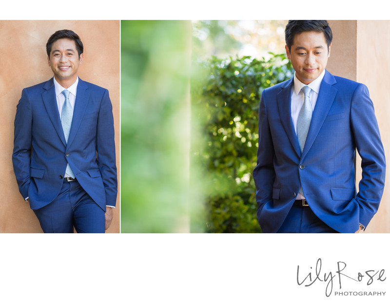 Wedding Photography of Groom in Sonoma