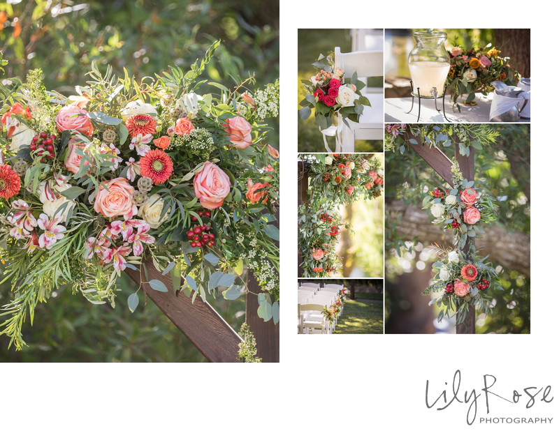 Wedding Flower Details at Cline Cellars Sonoma