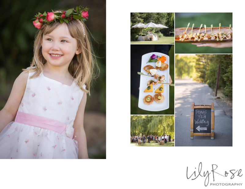 Flower Girl From a Sonoma Cline Cellars Wedding