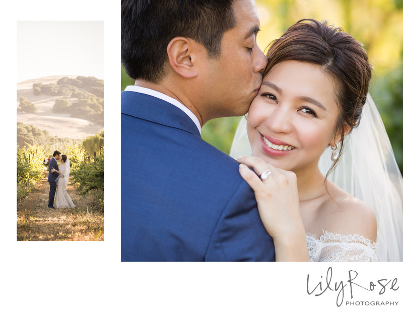 Sample Album Spread from Cline Cellars Wedding