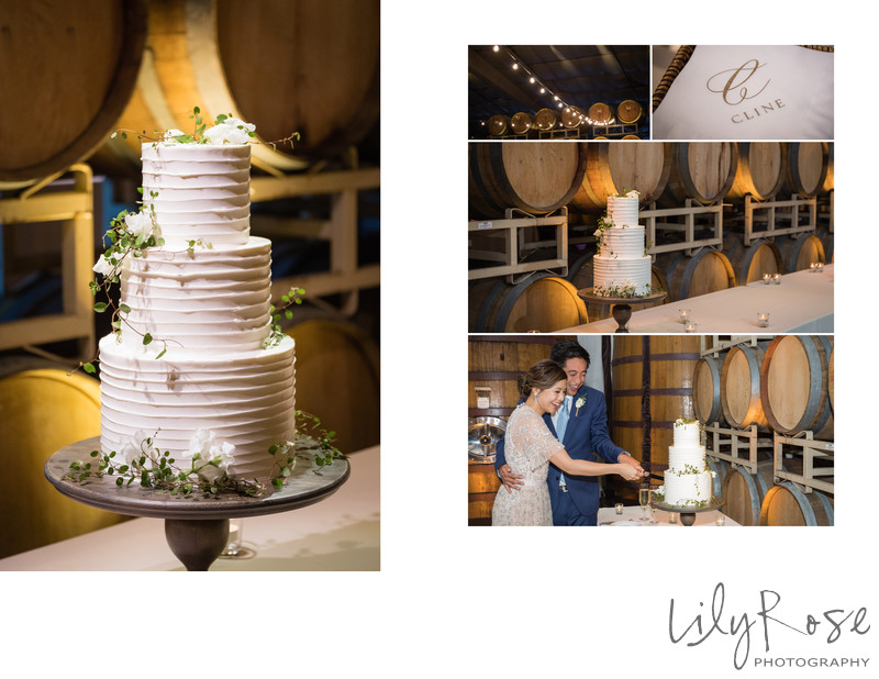Wedding Cake Photograph at Cline Cellars