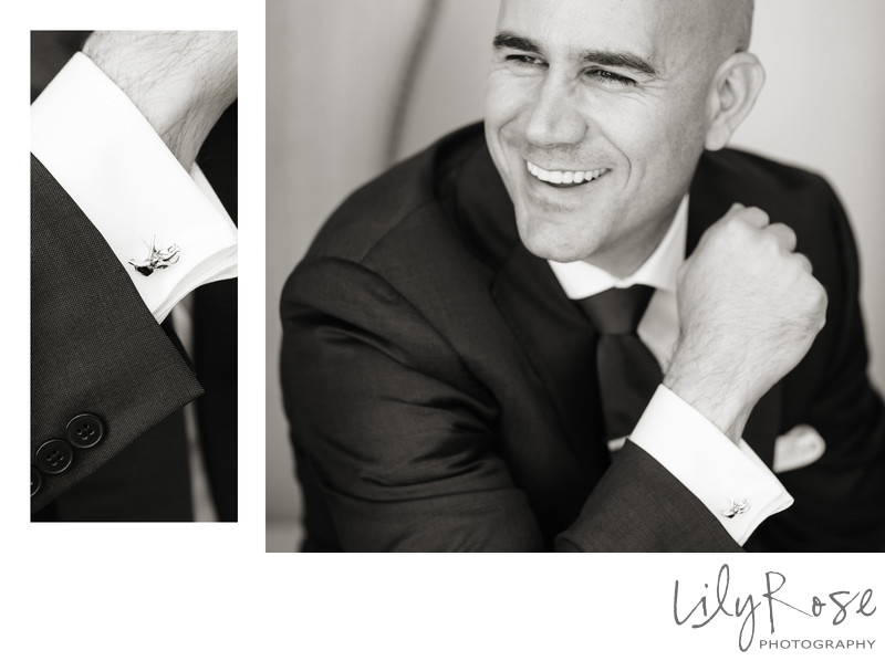 Amazing Photography of Groom and His Cufflinks