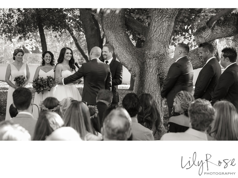 Black and White Ceremony Moment from the Maples