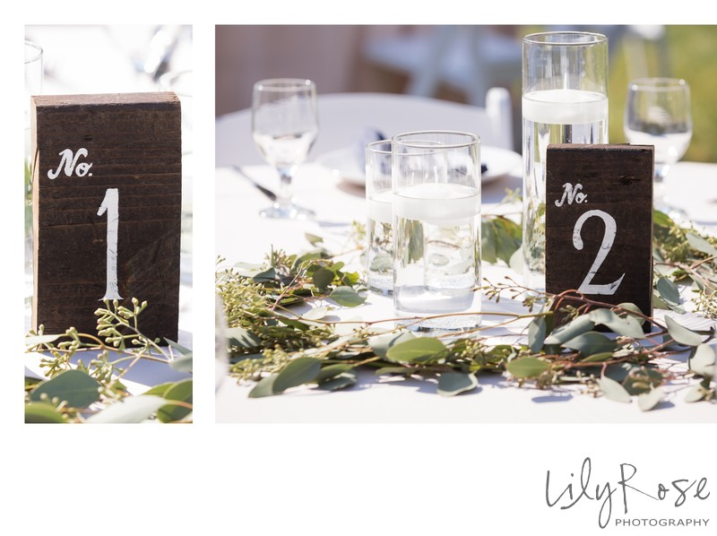 Reception Table Decorations at the Maples Event Center