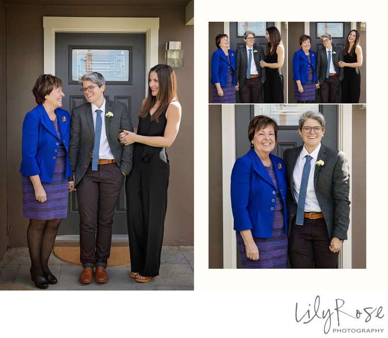 Mother Sister Family Same Sex Wedding