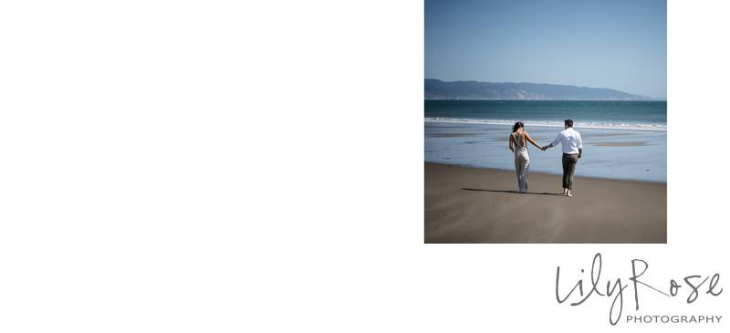 Point Reyes Beach Engagement Couple