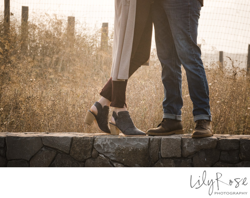 Details of Napa Engagement Couple Wedding Photographers