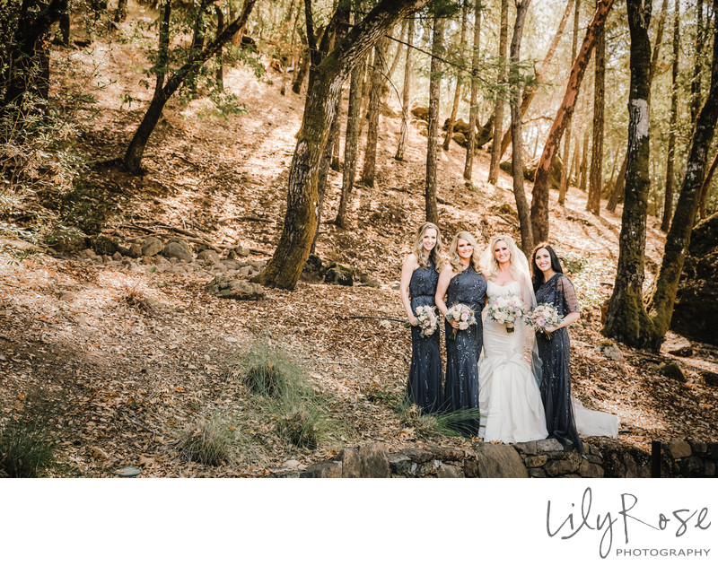 Top Wedding Photographer Calistoga Ranch Bridal Party