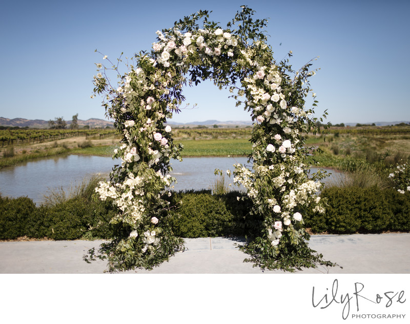 Ceremony The Barn at Tyge Williams Sonoma Photographer