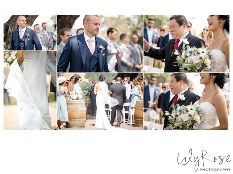 Ceremony Sonoma Photography Kunde Winery Wedding