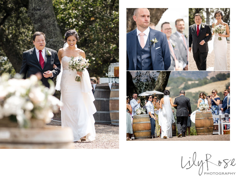 Ceremony Sonoma Photographer Kunde Winery Wedding