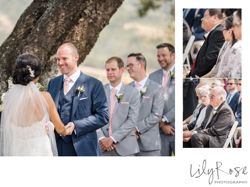 Ceremony Wedding Photographer Kunde Winery