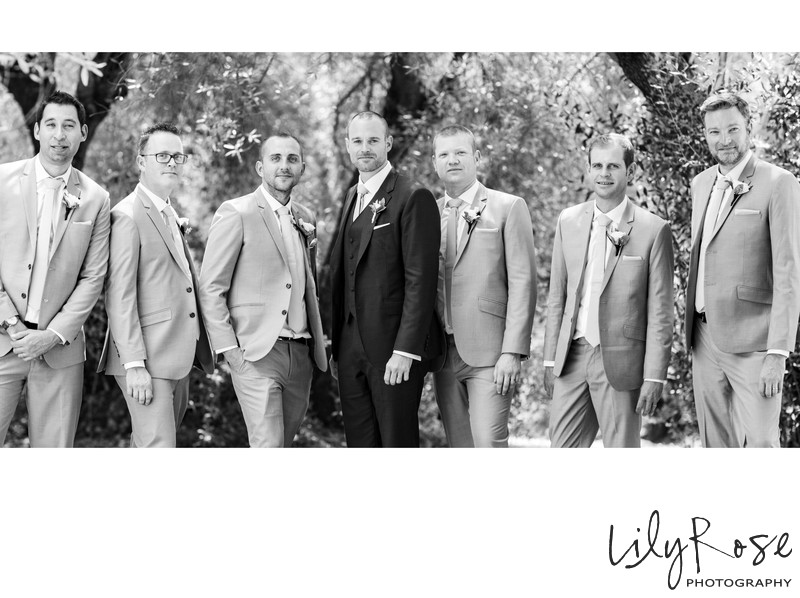 Sonoma Photographers Wedding Kunde Winery Groomsmen