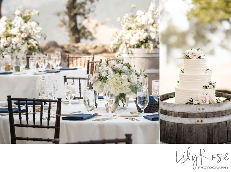 Sonoma Photographers Wedding Kunde Winery Wedding Cake