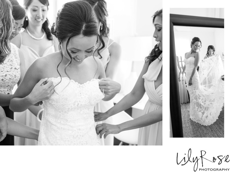 Cornerstone Sonoma Wedding Photography Bride Dressing