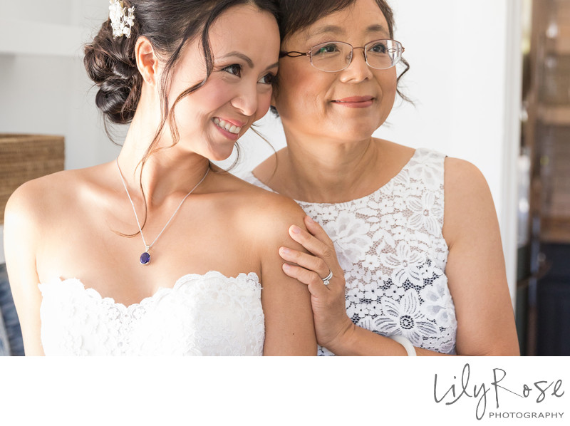 Cornerstone Sonoma Wedding Photographers Bride with Mom