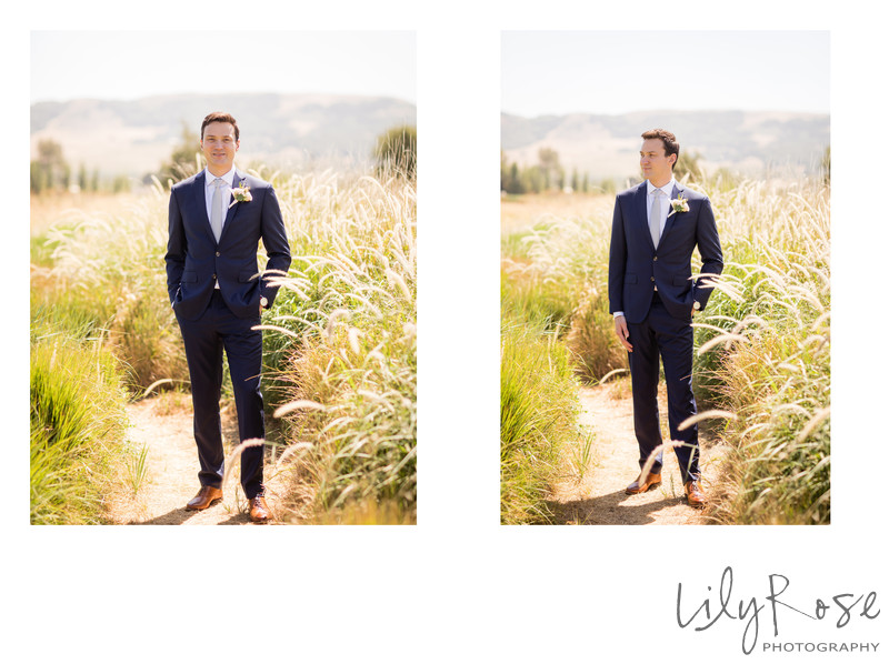 Cornerstone Sonoma Wedding Photographer First Look