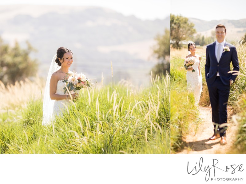 Cornerstone Sonoma Wedding Photography First Look Walk