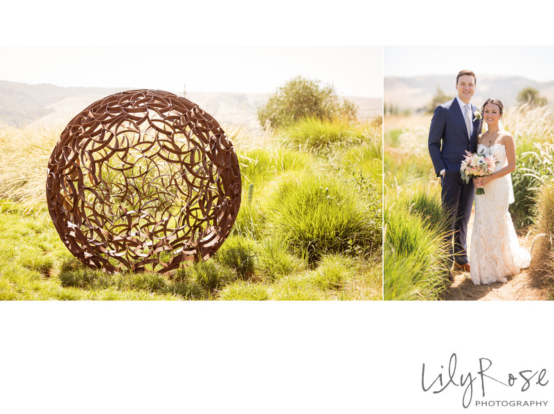 Couple Cornerstone Sonoma Wedding Photographer