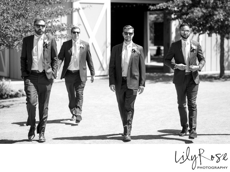 Cornerstone Sonoma Wedding Photographer Groomsmen