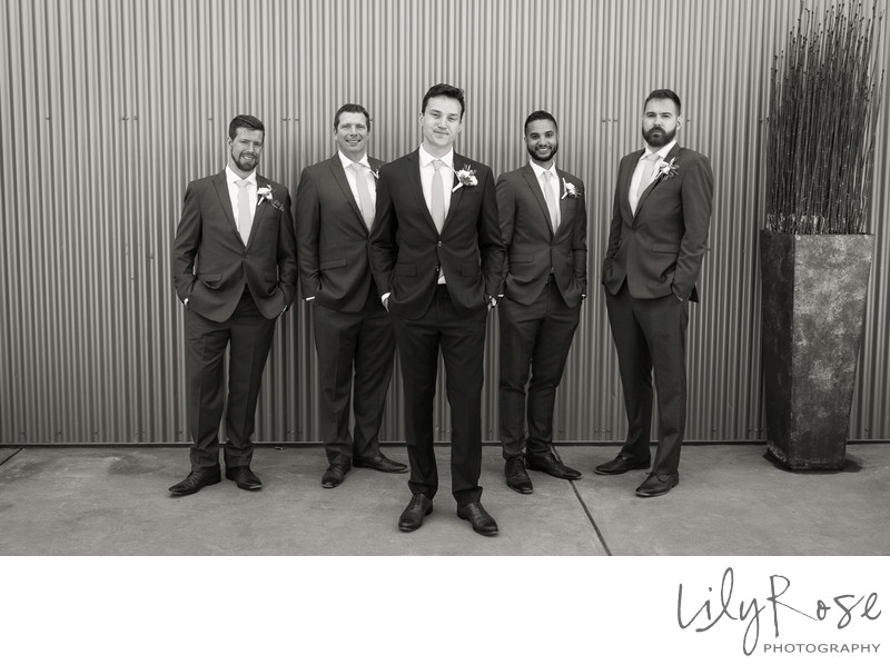 Cornerstone Sonoma Wedding Photographers Groomsmen
