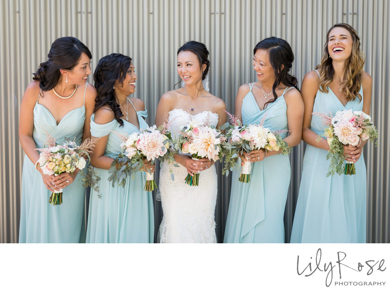 Cornerstone Sonoma Wedding Photography Bridesmaids