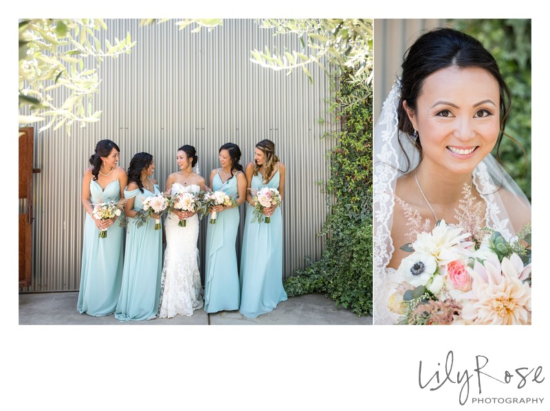 Bridesmaids Cornerstone Sonoma Wedding Photographers